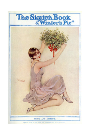 The Sketch Book: Young Flapper Girl with Decoration Giclee Print by Suzanne Meunier