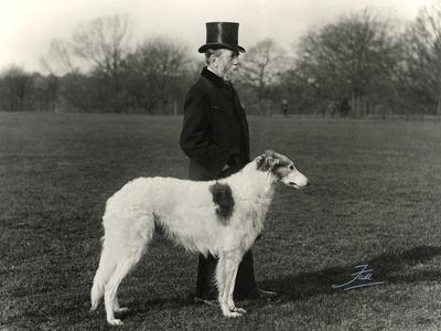 Thomas Fall with Borzoi Photographic Print by Thomas Fall