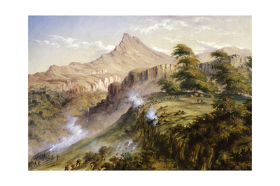 Amatola Mountains Giclee Print by Thomas Baines