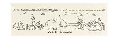 Cricket for the Able-Bodied Giclee Print by William Heath Robinson