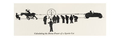 Calculating Horse Power Giclee Print by William Heath Robinson