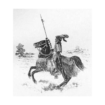 Japanese Warrior, Horse Giclee Print