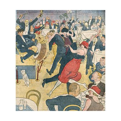 Jazz, Dance, Music 1921 Giclee Print