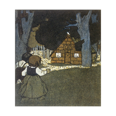 Hansel and Gretel and House Giclee Print