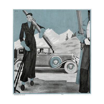 Elegant Skier Giclee Print