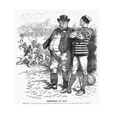 Sport, Rugby, Cartoon Giclee Print
