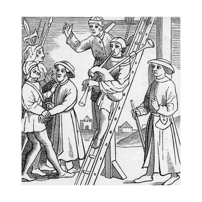Hanging to Music, 15th Century Giclee Print