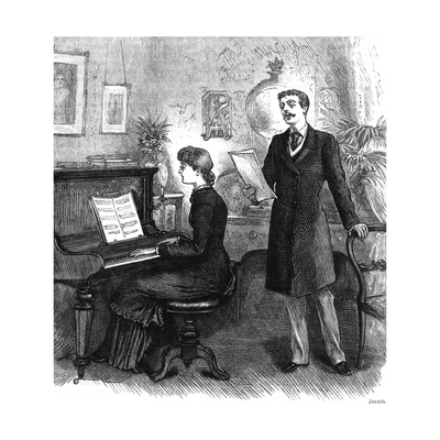 Recreation' - Music at Home, 1881 Giclee Print