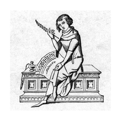 French Trouveur, 4th Century Musician Giclee Print