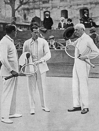 Anthony Wilding and Arthur Balfour at Nice, 1914 Photographic Print