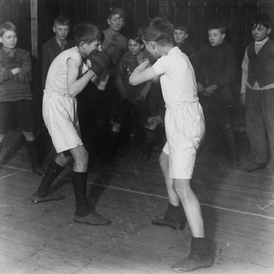 Boys Club Boxing Match, March 1929 Photographic Print