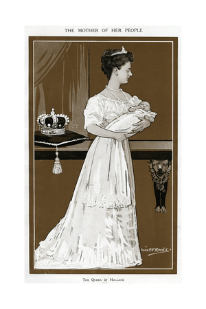 Wilhelmina, Dutch Giclee Print by Alick P.f. Ritchie