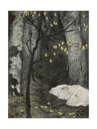 Child Abandoned in the Woods Premium Giclee Print by Adolf Munzer