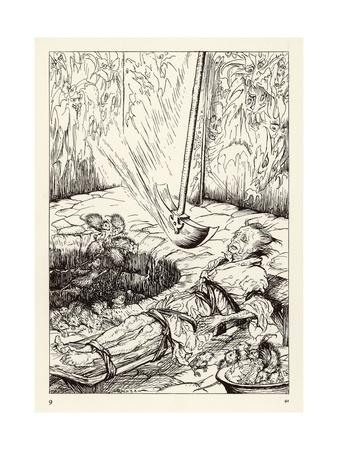 Pit and the Pendulum Premium Giclee Print by Arthur Rackham