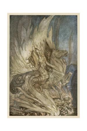 Brunnhilde's End Giclee Print by Arthur Rackham
