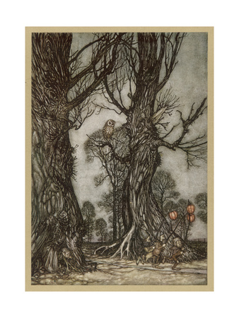 Fairy Lantern Bearers Premium Giclee Print by Arthur Rackham