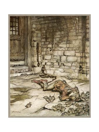Ballad, Young Bekie 2 Premium Giclee Print by Arthur Rackham