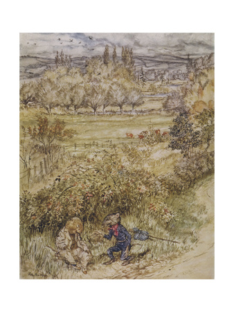 Wind in the Willows Giclee Print by Arthur Rackham