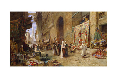 A Street Scene in Cairo Giclee Print by Charles Robertson