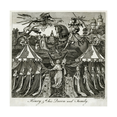 King Henry V of England and His Family Giclee Print by C Grignion