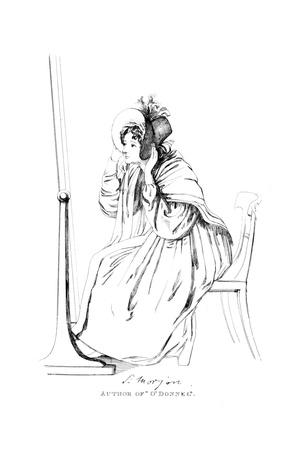 Sydney Lady Morgan Giclee Print by Daniel Maclise