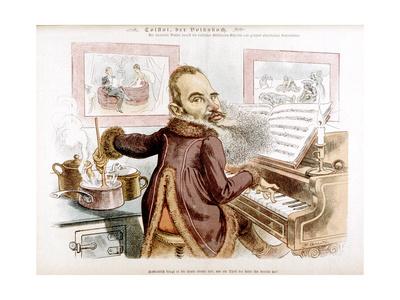 Leo Tolstoy Caricature Premium Giclee Print by F Graetz