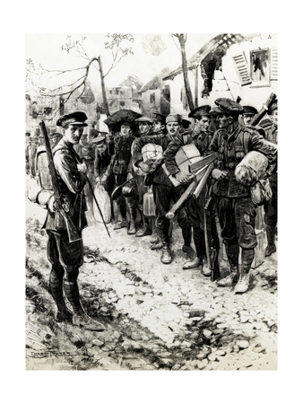 WW1 - Off to the Trenches Premium Giclee Print by Ernest Prater