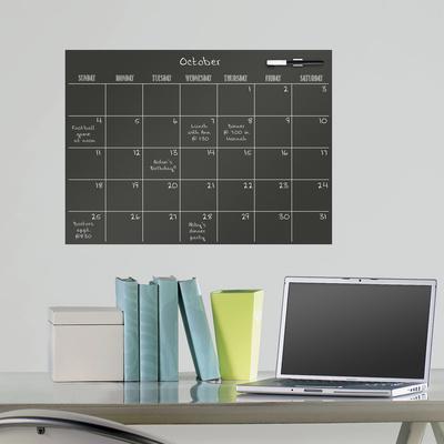 Black Dry Erase Calendar Wall Decal