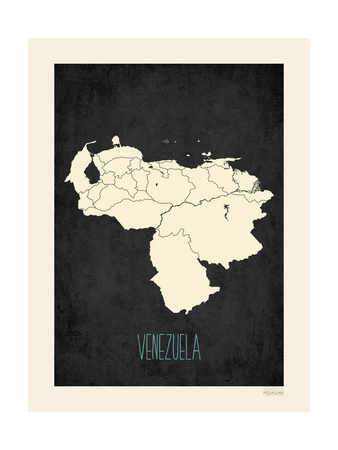 Black Map Venezuela Prints by Rebecca Peragine!