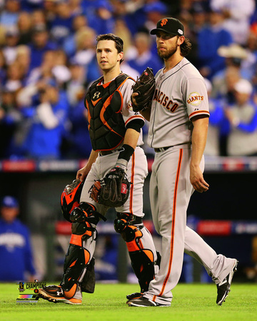 Buster Posey & Madison Bumgarner Game 7 of the 2014 World Series Photo