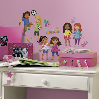 Dora and Friends Peel and Stick Wall Decals Wall Decal
