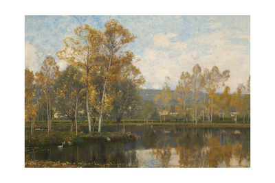 The Sleepy River Somme, 1897 Giclee Print by Alfred East