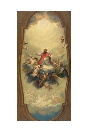 St. Eusebius Carried to Heaven, C.1757 Giclee Print by Anton Raphael Mengs