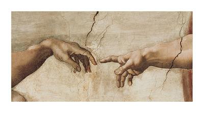 Skabelsen af Adam, ca. 1510 (detaljer) Giclée-tryk af Michelangelo Buonarroti,
