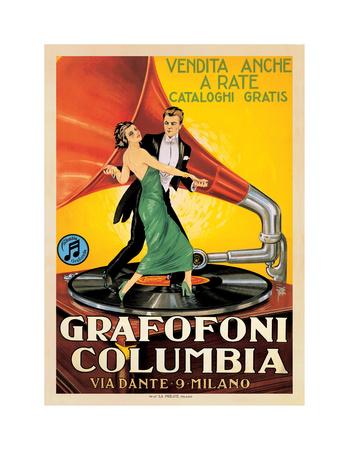 Grafofoni Columbia, 1920 Giclee Print