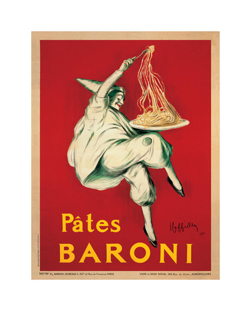 Pates Baroni, c.1921 Giclée-tryk af Leonetto Cappiello