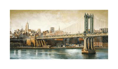 Manhattan Bridge View Giclee Print by Matthew Daniels
