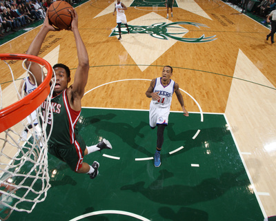 Philadelphia 76Ers v Milwaukee Bucks Photo by Gary Dineen