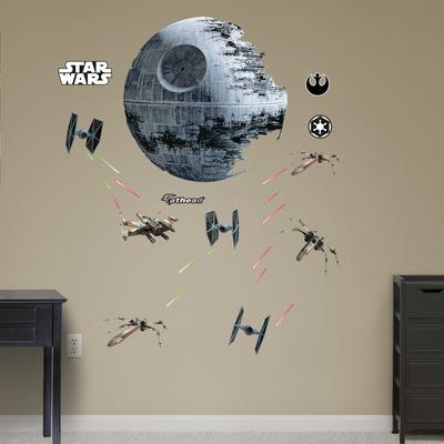 Star Wars Death Star Battle Wall Decal