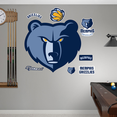 Memphis Grizzlies Logo Wall Decal
