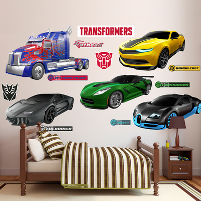 Transformers 4 Vehicles Collection Wall Decal