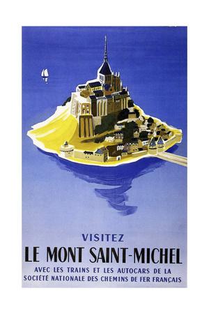 Mont Saint Michel Giclee Print