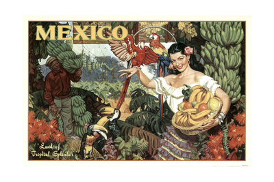 Mexico and Bananas Giclee Print