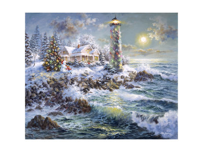 Lighthouse Merriment Giclee Print by Nicky Boehme