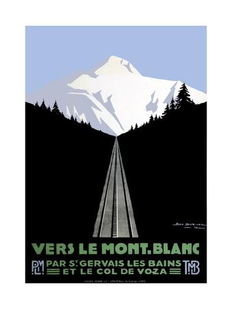 Mont Blanc Swiss Alps Giclee Print