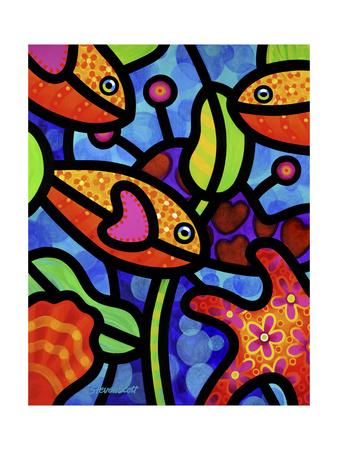 Kaleidoscope Reef Giclee Print by Steven Scott