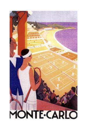 Monte Carlo Tennis Giclée-tryk