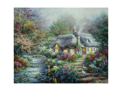 Little River Cottage Giclee Print by Nicky Boehme