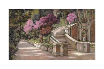 La Scalinata Sul Viale Giclee Print by Guido Borelli