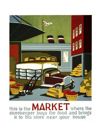 Market Giclee Print